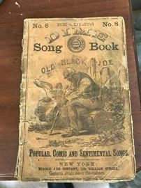 Old Black Joe Dime Song Book