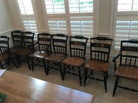 Rare Set of 8 Hitchcock Chairs - Near Mint