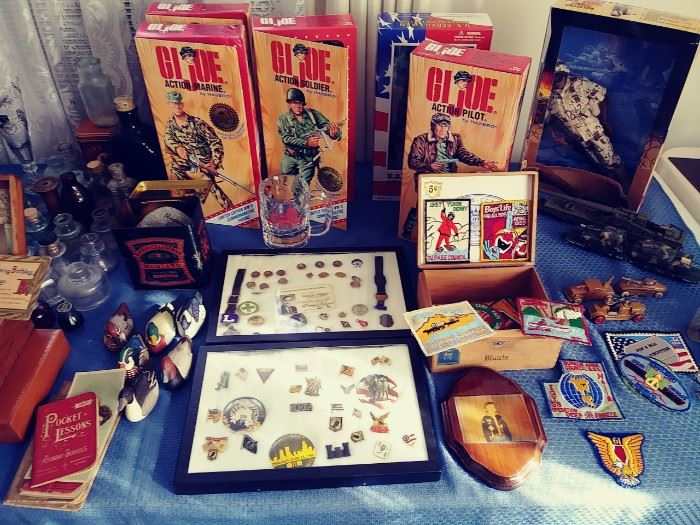 Nice collection of medals. war, work etc Newer collectible GI Joes