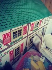Vintage toy doll house