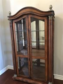 LARGE, LIGHTED CHINA CABINET
