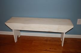 White antique bench