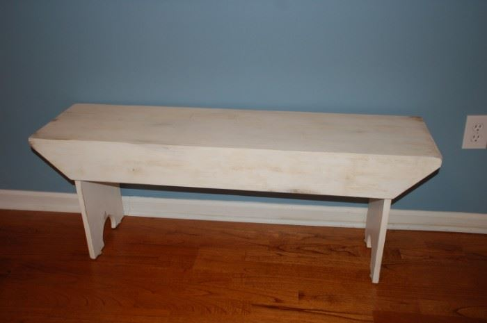 White antique bench