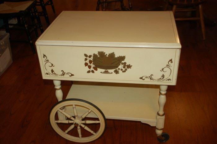 Decorative tea cart