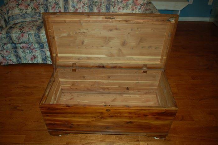 Cedar chest - inside view