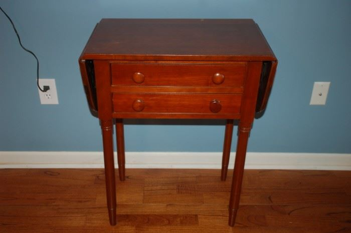 Two drawer folding side table