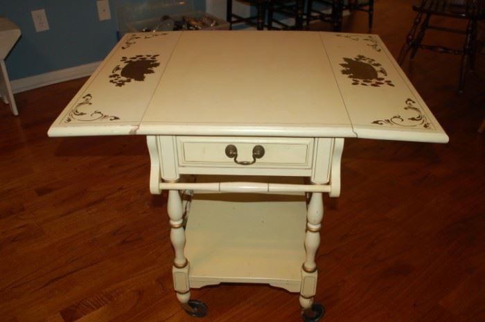 Decorative tea cart - sides open