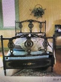 French 1920's Art Deco Bed, YOU GOT TO SEE THEM , YOU WON'T EVER SEE A SET LIKE THIS AGAIN