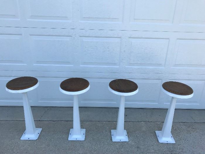 Set of fountain stools