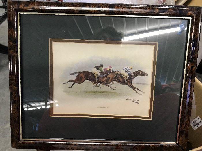 Horse racing signed pictures