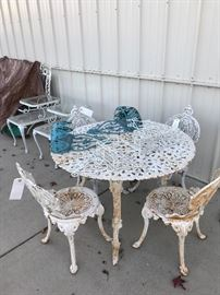 Victoria Heavy Metal Garden Chairs, Table priced seperate