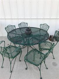 Woodard Iron Set, 6 Chairs