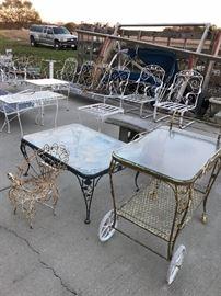 Woodard Tea Carts in Chantilly pattern