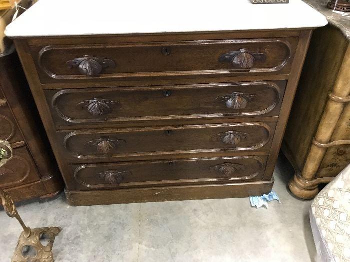Walnut Victorian Dresser
