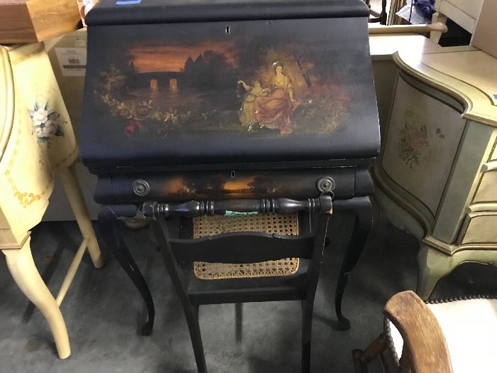 Hand Painted French Desk