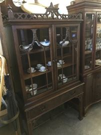 Mahogany Chippendale china cabinet