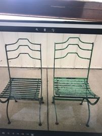 FRENCH IRON FOLDING CHAIRS
