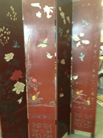 Pair of hand painted screens, large enough to fill a whole wall for a beautiful feature in any room . They will be sold seperate