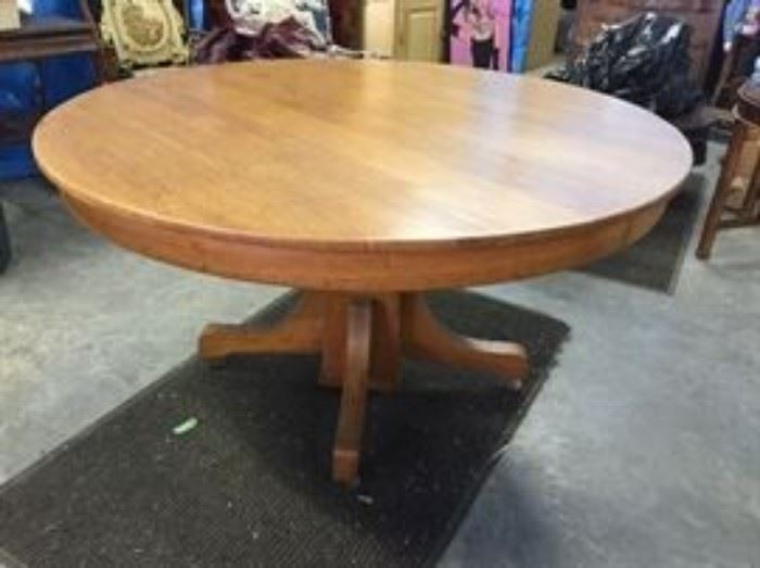 60 inch round oak table