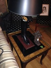 END TABLES WITH BOOT LAMPS