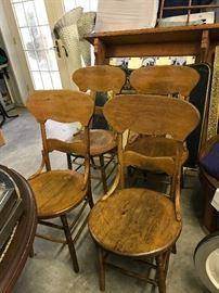 primitive chairs
