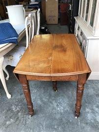 Drop Leaf Walnut primitive table
