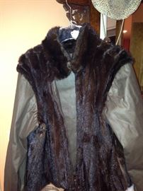 Jacket with mink