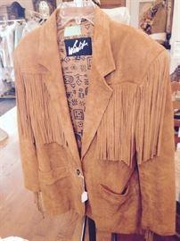 Fringe Leather Coat