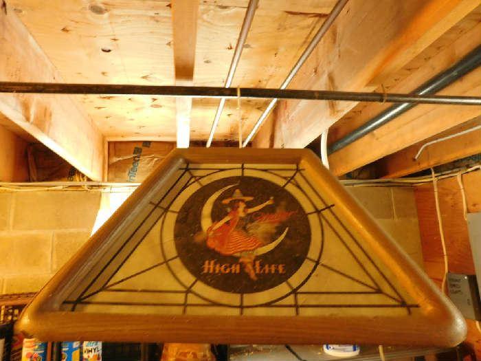 Miller Beer Ceiling Fixture