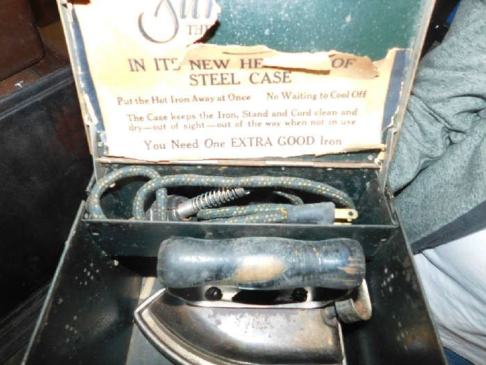 antique electric iron