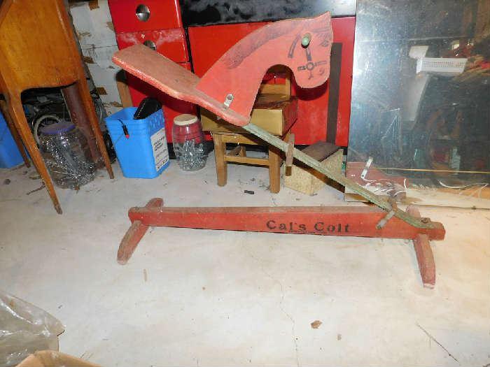 Cats colt 1928 Rocking horse