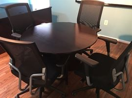 Round table with 3 chairs (1 chair has Been  sold)