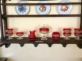 Great Old hanging plate display