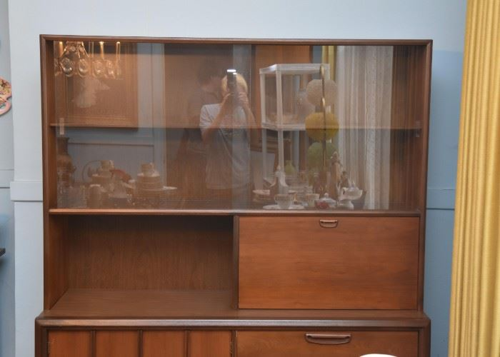 """Mid Century China Cabinet by Keller Furniture (approx. 52"""" L x 15.5"""" W x 63.5"""" H)"""