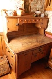 Nice Primitive Antique Pine Kitchen Cabinet