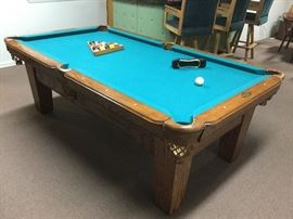 "Pro-Line billiard table ""Simply the Best"" by Altamonte Billiard Factory, Inc. Longwood, Fl."