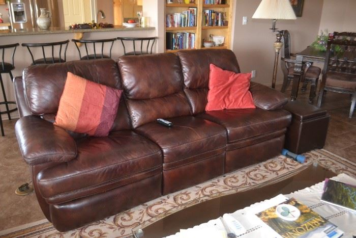 Reclining Leather Sofa