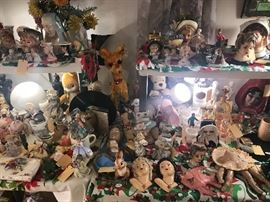 Vintage American Flyer Train Set ~ Vintage Christmas ~ Vintage Lady Head Vases ~ Vintage Religious Figurines ~ Vintage Gund And Knickerbocker Stuffed Animal Toys ( 1940's & 50's) ~ Costume Jewelry (Some Vintage) ~ War Uniform And Medals ~ TONS OF GREAT ITEMS!