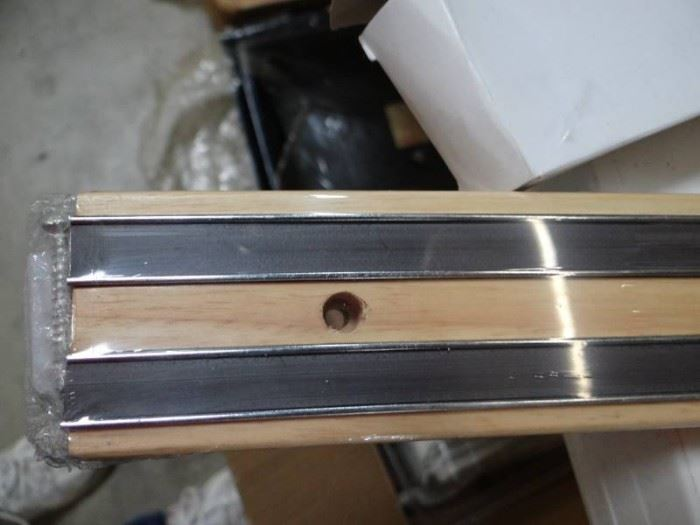 New In Box 24 Magnetic Bar with Wooden Base..