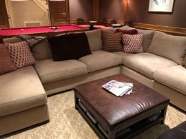 "neutral sectional from Crate & Barrel sectional originally $4160 Sectional $2700  Sectional is 36""h x 41.5""d x 11'10 on one side and 9'4 on the other"