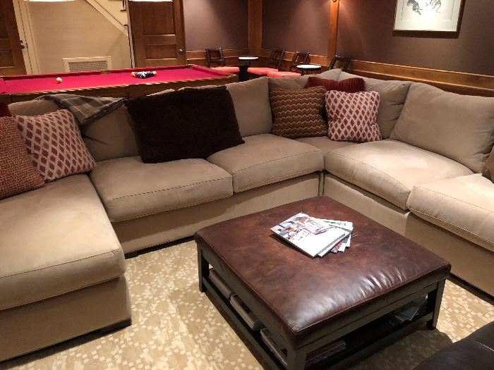 """neutral sectional from Crate & Barrel sectional originally $4160 Sectional $2700  Sectional is 36""""h x 41.5""""d x 11'10 on one side and 9'4 on the other"""