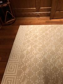 "another custom rug for sale wonderful neutrals one is 8' x 16'3"" and a second one is 12"" x 16""  Both custom from GoodWeaves asking  $600 and $800 respectively"