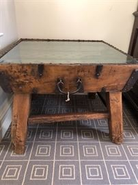"terrific end table or coffee table 31""sq x 23""h asking $240"