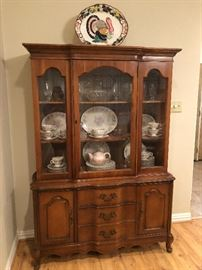Gorgeous China Display Cabinet -packed full of china and silverplate