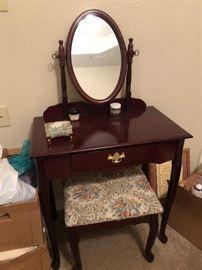 Vanity Dresser & Stool
