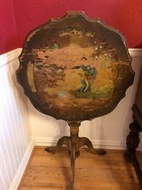 Antique handpainted table