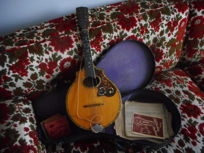 Vintage Regal Mandolin as found with Case