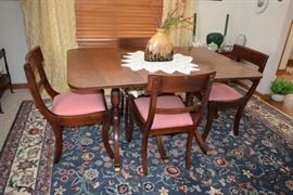 Vintage Dining Room with Chairs, Home Decor