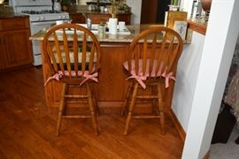Stools with Pillows