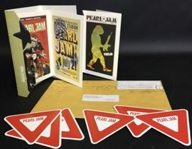 """Unused Pearl Jam postcards and stickers from """"Yield"""" album"""
